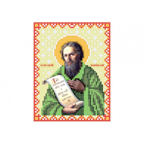 "Bead embroidery pattern of icon ""Saint Alexius of Rome"""