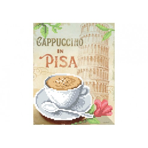 """Bead embroidery pattern """"Cappuccino in Pisa"""""""