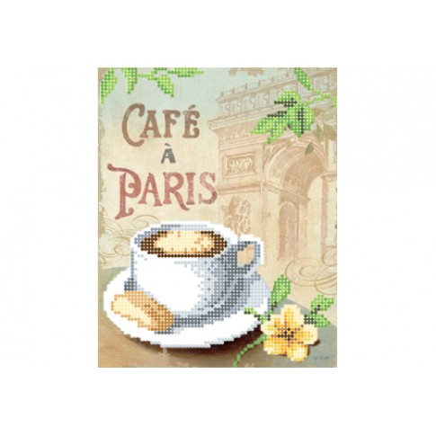 """Bead embroidery pattern """"Coffee in Paris"""""""
