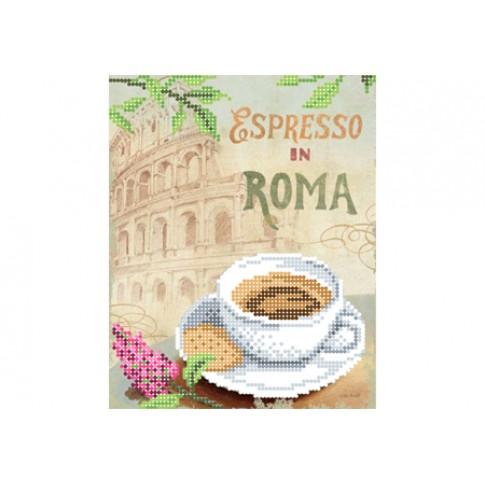 "Bead embroidery pattern ""Espresso in Rome"""