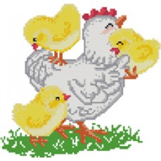 "Free cross stitch pattern ""Chickens"""