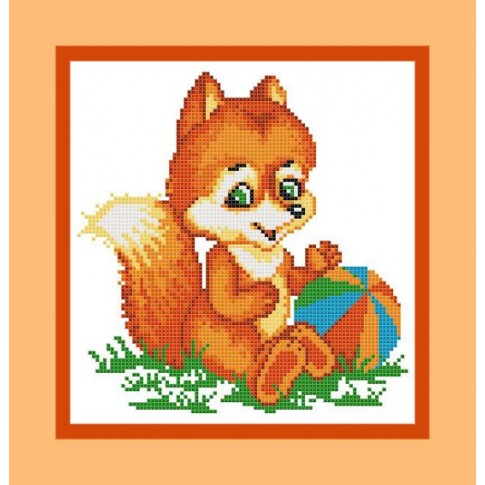 "Free cross stitch pattern ""Little fox"""