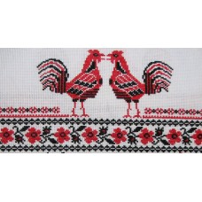 """Free cross stitch pattern """"Towel Roosters"""""""