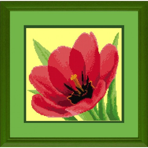 "Free cross stitch pattern ""Tulips"""
