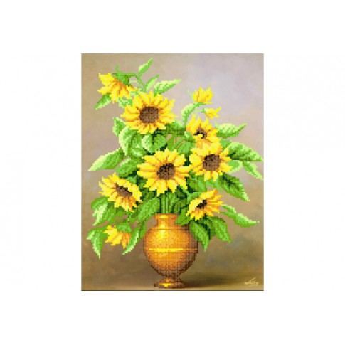 "Bead embroidery pattern ""Sunny bouquet"""