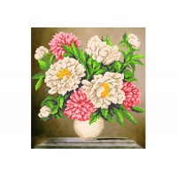 """""""Bouquet of peonies"""" - Bead embroidery pattern"""