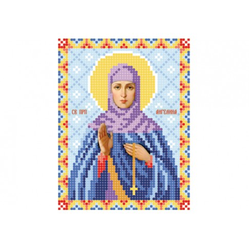 """Bead embroidery pattern of icon """"Saint Angelina of Serbia"""""""
