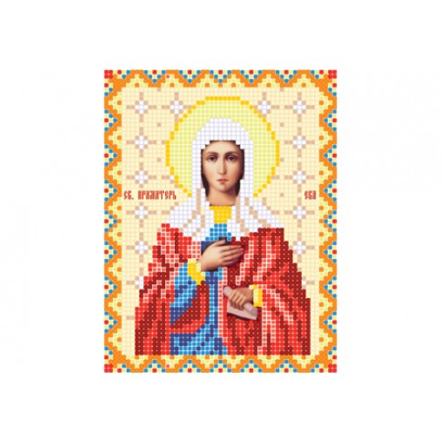 """Bead embroidery pattern of icon """"Saint Eve"""""""