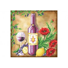 """""""Still life with lemons and poppies"""" - Bead embroidery pattern"""