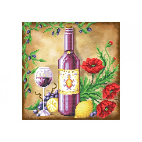 """Bead embroidery pattern """"Still life with lemons and poppies"""""""