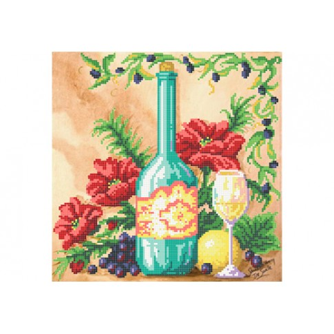 "Bead embroidery pattern ""Still life with grapes"""
