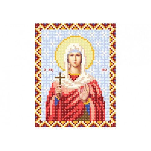 "Bead embroidery pattern of icon ""Saint Nika of Corinth"""