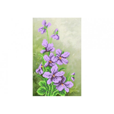 """Bead embroidery pattern """"Violets"""""""