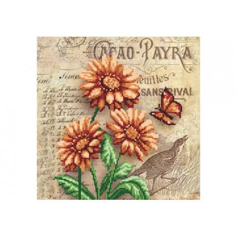 "Bead embroidery pattern ""Gerbera"""