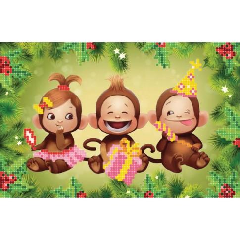 "Bead embroidery pattern ""Merry monkeys"""