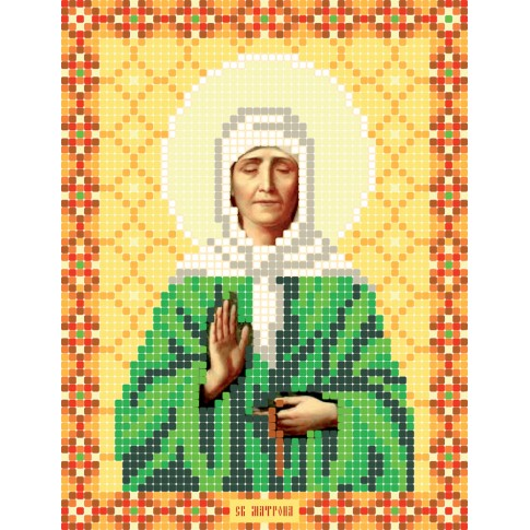 """Bead embroidery pattern of icon """"Saint Matrona of Moscow"""""""