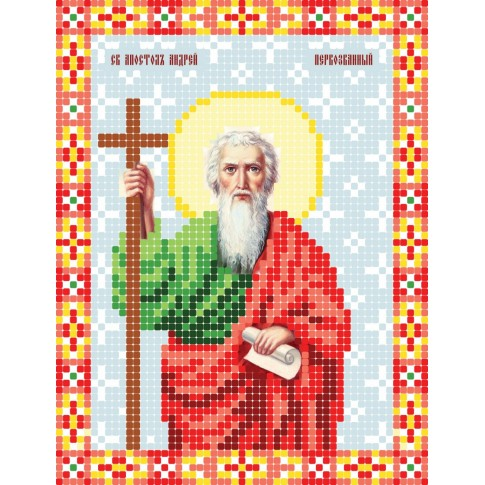 """Bead embroidery pattern of icon """"Saint Andrew the Apostle"""""""