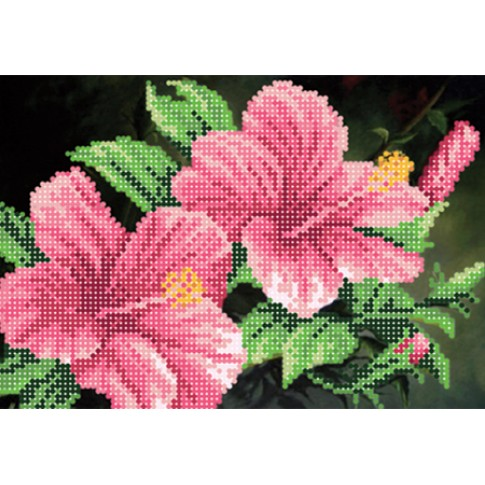 "Bead embroidery pattern ""Hibiscus"""