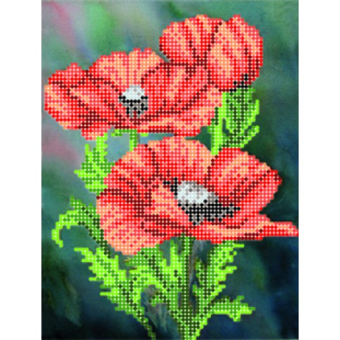 """Bead embroidery pattern """"Red mood"""""""