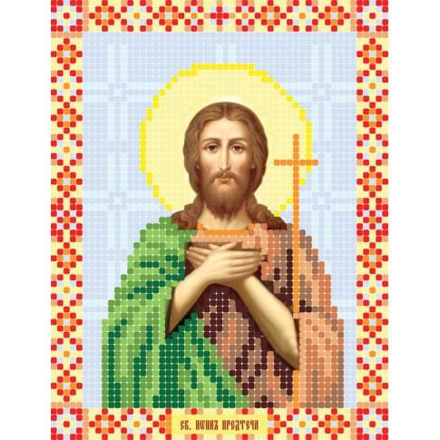 "Bead embroidery pattern of icon ""Saint John the Baptist"""