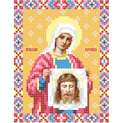 "Bead embroidery pattern of icon ""Saint Veronica"""