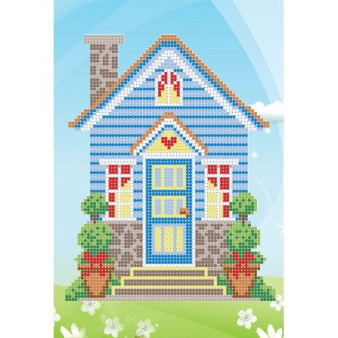 "Bead embroidery pattern ""Dream house"""