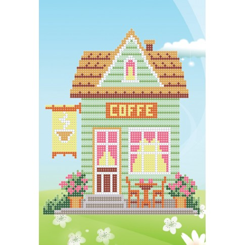 """Bead embroidery pattern """"Coffee house"""""""