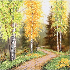 """""""Autumn in the mountains"""" - Bead embroidery pattern"""