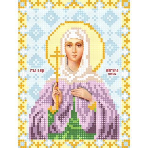 "Bead embroidery pattern of icon ""Saint Anastasia"""