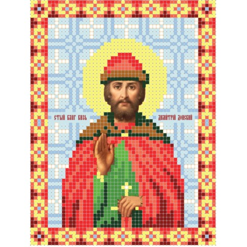 """Bead embroidery pattern of icon """"Saint Dmitry Donskoy"""""""