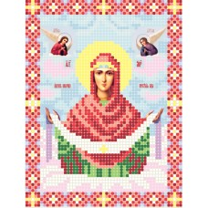 """Intercession of the Theotokos A5"" - Bead embroidery pattern of icon"