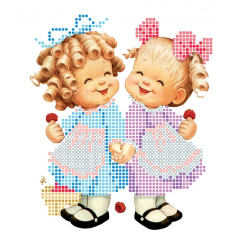 "Bead embroidery kit ""Girls"""