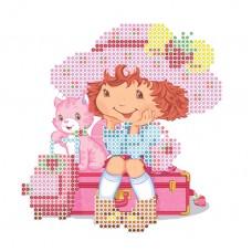 """Bead embroidery kit """"Girl traveler"""""""