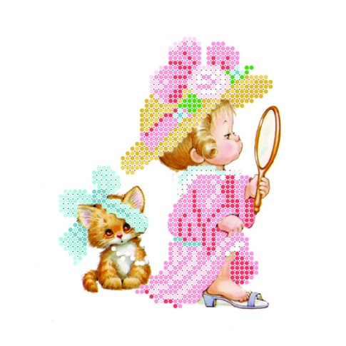 "Bead embroidery kit ""Fashionista"""