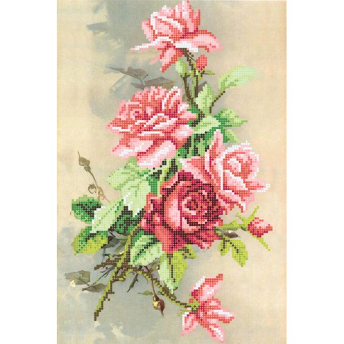 """Bead embroidery pattern """"Evening rose"""""""