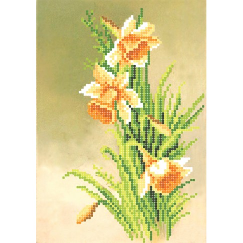 """Bead embroidery pattern """"Daffodils"""""""