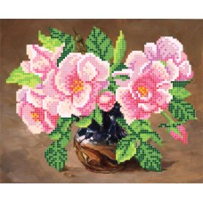 """""""Wild roses"""" - Bead embroidery pattern"""
