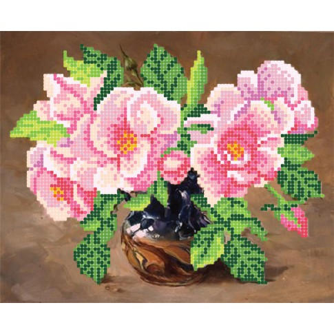 """Bead embroidery pattern """"Wild roses"""""""