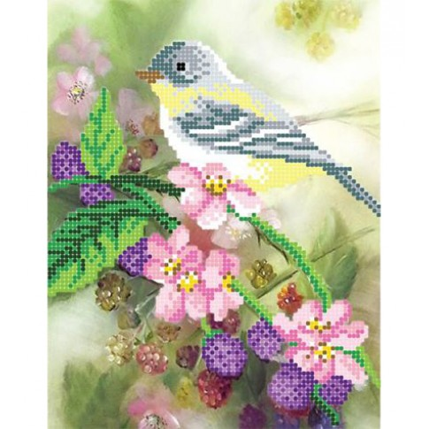 "Bead embroidery pattern ""Nightingale"""