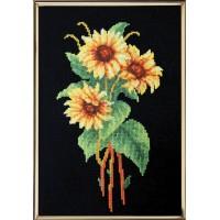 """Yellow bouquet"" - Cross stitch kit"