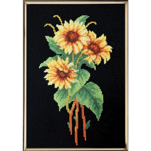 "Cross stitch kit ""Yellow bouquet"""