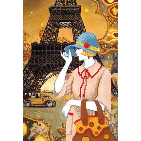 """Bead embroidery pattern """"Journey to Paris"""""""