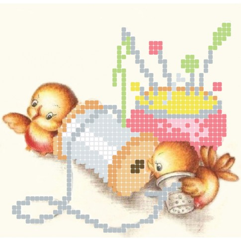 "Bead embroidery pattern ""Restless"""