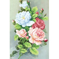 "Bead embroidery kit ""Morning roses"""