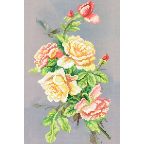 """Bead embroidery pattern """"Night rose"""""""