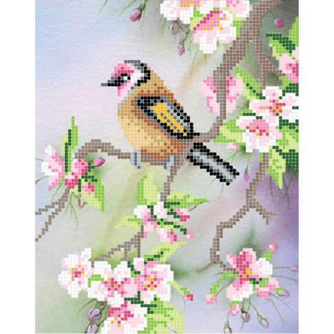 "Bead embroidery pattern ""Spring singing"""