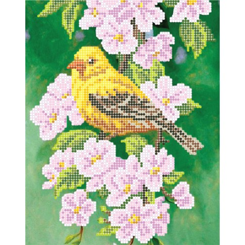 """Bead embroidery pattern """"Oriole"""""""