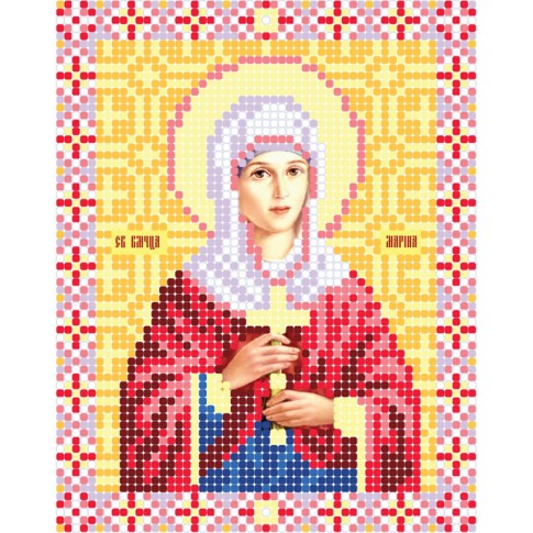 """Bead embroidery pattern of icon """"Saint Margaret of Antioch"""""""