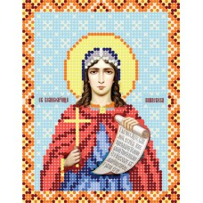 """""""Saint Parascheva of the Balkans"""" - Bead embroidery pattern of icon"""