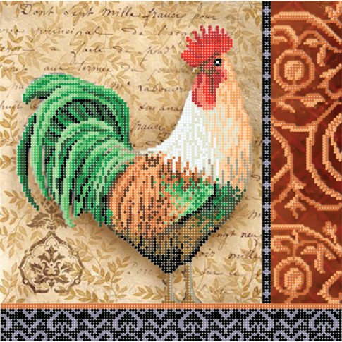"Bead embroidery pattern ""Green-tailed cock"""